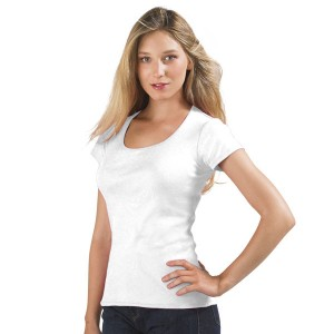Moody - Tee-Shirt Blanc pour femme col rond