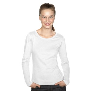 Majestic - Tee-Shirt Femme Blanc Manches Longues