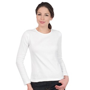 Angel - Tee-Shirt femme manches longues blanc