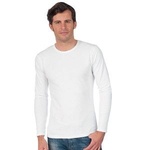 Century - Tee-Shirt Blanc Manches Longues pour Homme