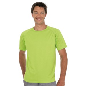 Sporty - Tee-shirt couleur homme manches raglan