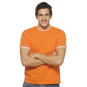 Madison - Tee-Shirt Homme bords francs roulottés
